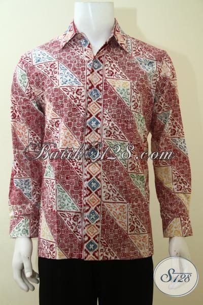 Pusat Baju Lelaki Muda, Toko Baju Batik Online Terlengkap, Batik Jawa Masa Kini Model Lengan Panjang Proses Cap, Size M