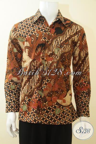 Kemeja Batik Lengan Panjang Motif Klasik, Busana Batik Mewah Full Daleman Furing Kwalitas Istimewa [LP3676TF-M]