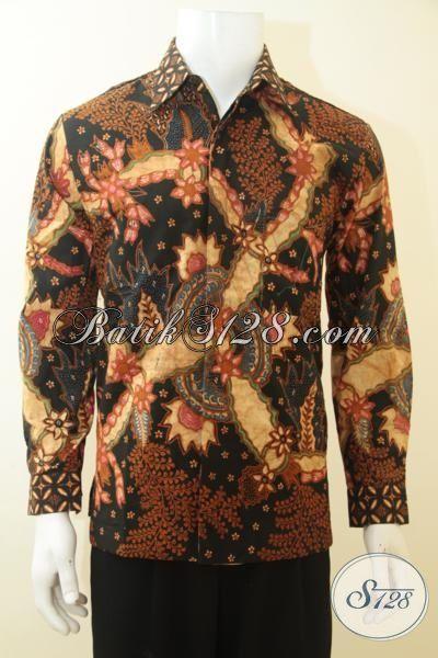 Baju Batik Klasik Berkelas Istimewa Proses Tulis, Hem Batik Lengan Panjang Full Furing Motif Klasik, Pas Buat Acara Formal Dan Pakaian Kerja Nan Elegan, Size M