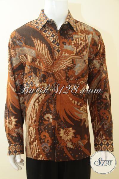 Baju Batik Pria Dewasa Masa Kini, Hem Batik Klasik Proses Tulis, Baju Batik Full Furing Lengan Panjang Tampil Lebih Makasimal, Size XL