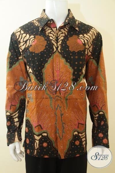 Pusat Baju Batik Klasik Di Solo Sedia Kemeja Batik Lengan Panjang Full Furing Proses Tulis Berbahan Halus Dan Berkwalitas Tinggi [LP3688TF-XXL]