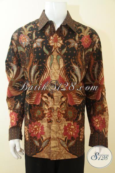 Batik Hem Super Jumbo, Busana Batik Lengan Panjang Masa Kini Full Furing, Batik Tulis Halus Premium Kesukaan Para Executive, Size XXXL