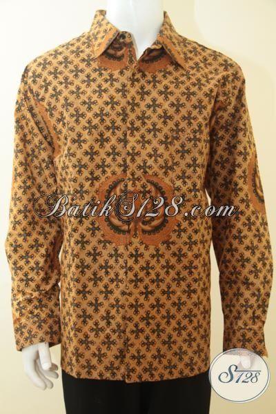 Hem Batik Pria Dewasa Size Super Jumbo Cocok Untuk Yang Berbadan Gemuk Sekali, Baju Batik Kombinasi Tulis Full Furing Kwalitas Istimewa [LP3697BTF-XXXL]