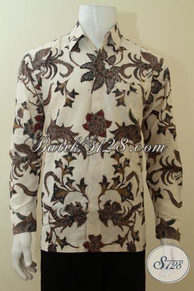 Baju Batik Warna Putih Lengan Panjang Terbaru Berkualitas