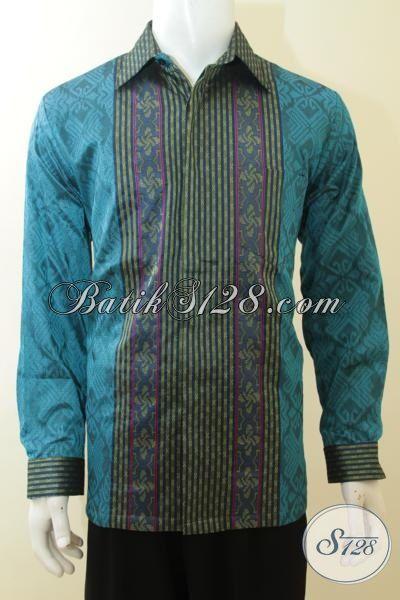 Pusat Batik Solo Online Sedia Hem Baju Tenun Lengan Panjang Full Furing Kwalitas Premium Untuk Cowok Tampil Gagah Berwibawa [LP3873NF-L]
