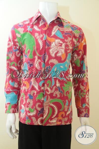 Hem Lengan Panjang Batik Tulis Istimewa, Baju Batik Full Furing Warna Cerah Motif Klasik, Baju Batik Ukuran M Seragam Kerja Para Executive