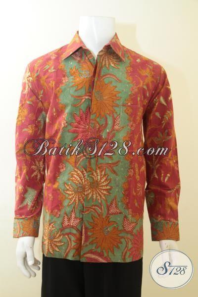 Baju Batik Mahal Daleman Full Furing, Kemeja Batik Para Executive Bahan Batik Tulis Tangan Model Lengan Panjang Size L, Bisa Untuk Pria Muda Dan Dewasa