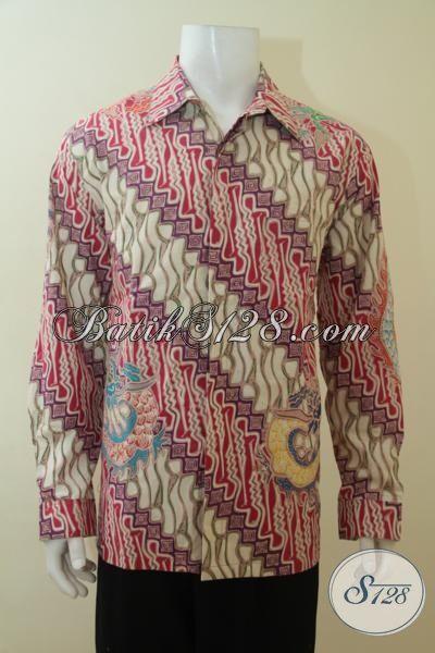 Baju Batik Parang Tulis Tangan, Batik Seragam Kerja Dan Rapat Tampilm Elegan, Baju Batik Klasik Full Furing  Mewah Seperti Jas, Size XL