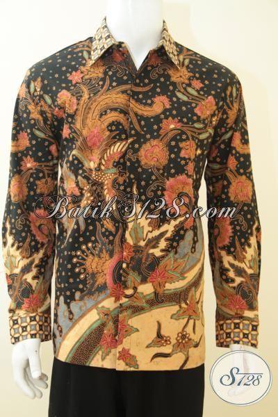 Baju Kemaja Batik Lengan Panjang, Batik Premium Full Furing Proses Tulis Tangan, Batik Kerja Para Executive Untuk Tampil Sempurna [LP4037TF-L]