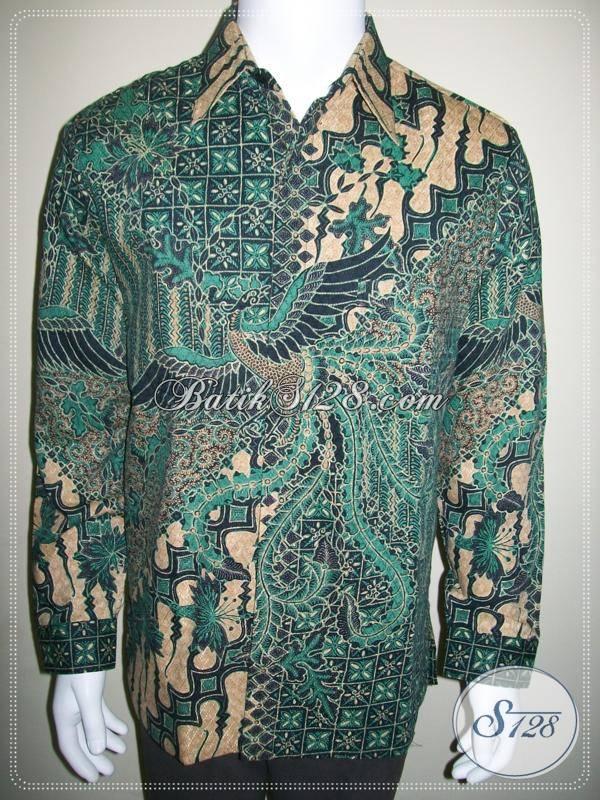 Kemeja Batik Doby Lengan Panjang Warna Hijau, Batik Dolby Cap Tulis [LP416BTFD-L]