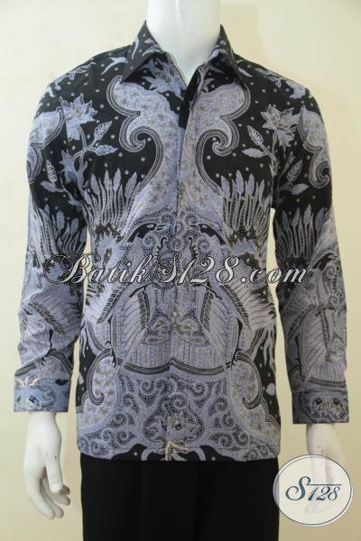 Kemeja Batik Klasik Kombinasi Tulis, Baju Batik Halus Bahan Dobby Dilengkapi Daleman Full Furing Pas Buat Seragam Kerja Kantoran [LP4223BTDF-M]