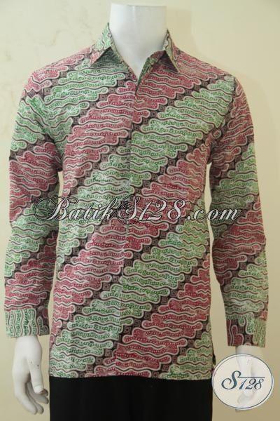 Batik Kemeja Lengan Panjang Buatan Solo, Baju Batik Parang Warna Terbaru Yang Lebih Bagus Dan Fashionable, Size M