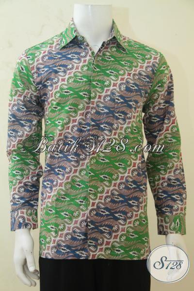 Baju Batik Elegan Modis Dan Berkarakter, Busana Batik Klasik Modern Proses Cap Tulis Berpadu Warna Yang Mewah [LP4283CT-M]