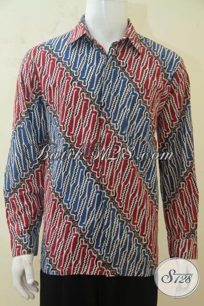 Baju Batik Kerja Para Manager Perusahaan, Hem Batik Formal Motif Parang Hadir Dengan Warna Keren Membuat Cowok Makin Modis, Size L
