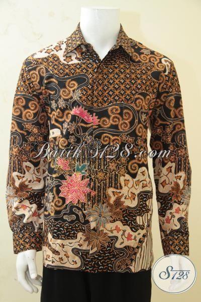 Tampil Gagah Dan Keren Dengan Kemeja Batik Tulis Solo Motif Klasik Trend Terkini, Baju Batik Lengan Panjang Full Furing Elegan Membuat Cowok Makin Mempesona [LP4295TF-L]