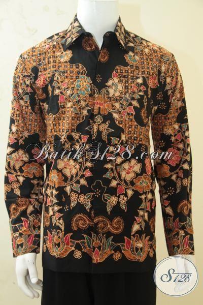 Baju Batik Premium Produk Solo Proses Tulis Tangan Asli, Kemeja Batik Full Furing Mewah Model Lengan Panjang, Cocok Untuk Dokter Dan Dosen [LP4296TF-L]