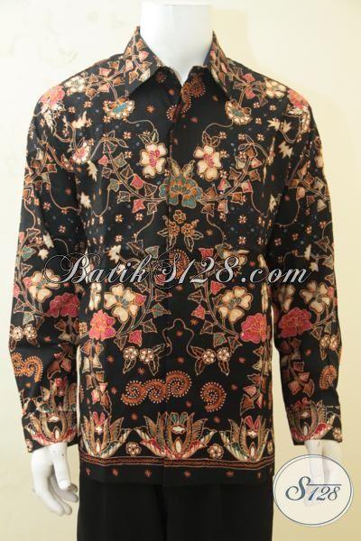 Toko Online Jual Kemeja Batik Tulis Terbaru Kwalitas Mewah, Baju Batik Pejabat Lengan Panjang Size XL Lebih Mewah Dengan Daleman Full Furing