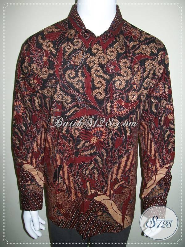 Jual Baju Batik Pria Ukuran Besar Lengan Panjang Lp432ct