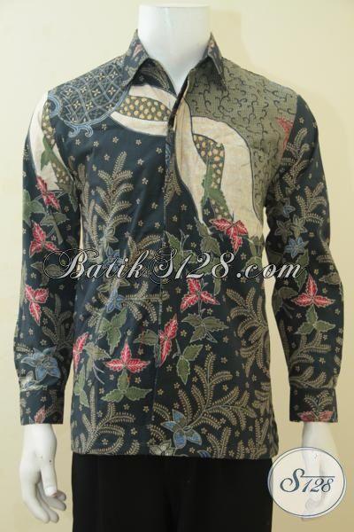 Pakaian Batik Tulis Premium Lengan Panjang Motif Klasik, Busana Batik Full Furing Buatan Solo Pilihan Tepat Tampil Mewah Dan Gagah, Size M