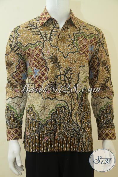 Pakaian Batik Bagus Dan Mewah Proses Tulis Asli Solo, Kemeja Batik Lengan Panjang Full Furing Motif Klasik Pas Banget Buat Rapat Dan Kerja, Size M
