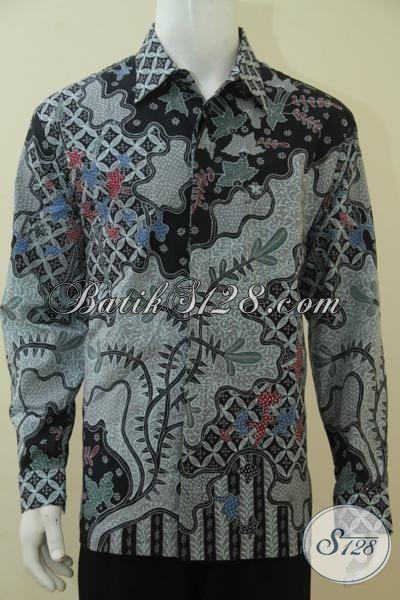Hem Batik Mahal Kwalitas Mewah, Baju Batik Tulis Tangan Full Furing Halus Motif Elegan  Tampil Keren Bak Pejabat, Size XL