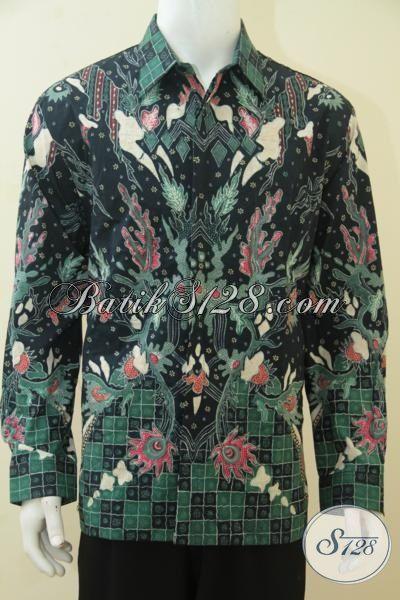 Jual Hem Batik Mewah Harga Mahal, Baju Kerja Batik Klasik Modern Daleman Full Furing Tampil Berkelas Dan Gagah, Size XL