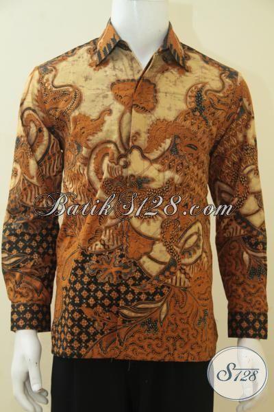Kemeja Batik Kombinasi Tulis Motif Klasik Untuk Pria Muda, Baju Batik Elegan Full Furing Tampil Mods Berwibawa, Size M