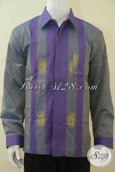 Jual Eceran Produk Baju Tenun Lengan Panjang Full Furing Harga Grosir, Busana Tenun Premium Desain Mewah Untuk Acara Formal, Size XL