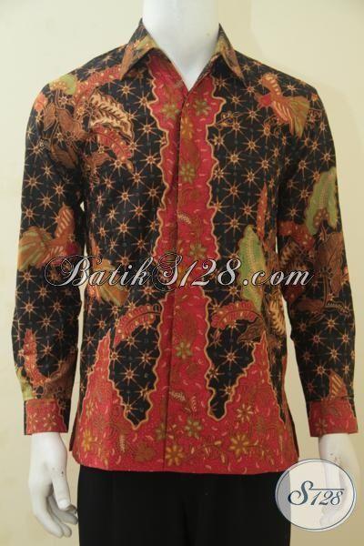 Kemeja Batik Lengan Panjang Klasik, Baju Batik Full Furing Etnik Kombinasi Tulis Baju Kerja Berkelas Tampil Makin Gagah, Size M