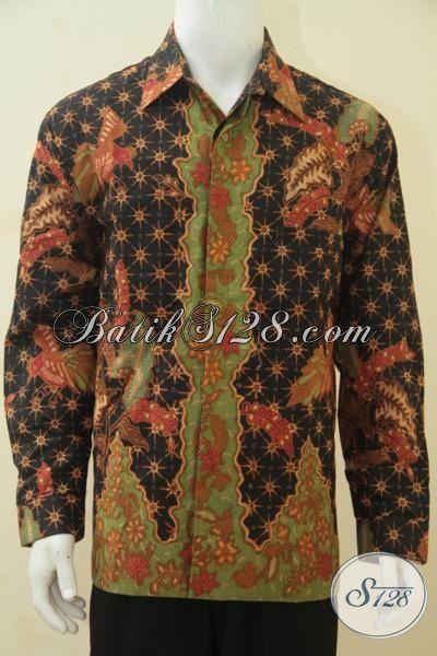 Hem Batik Lelaki Dewasa Motif Terbaru Yang Makin Mewah, Baju Batik Full Furing Desain Berkelas Proses Kombinasi Tulis, Size XL