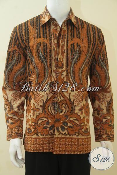 Batik Hem Jumbo Produk Berkwalitas Dari Solo, Baju Batik Premium Full Furing, Pakaian Batik Lengan Panjang Klasik Buat Acara Formal, Size XXL