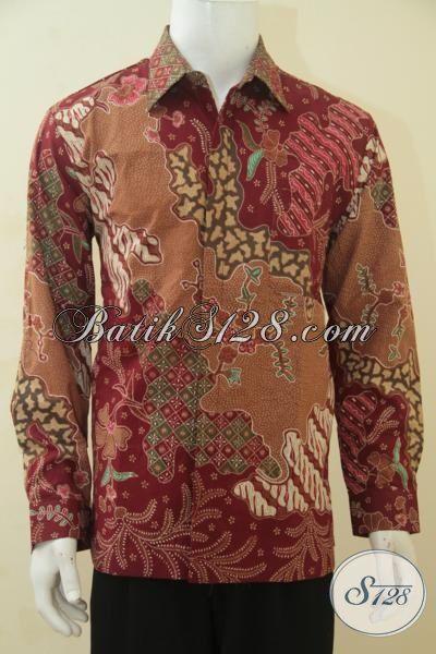 Baju Batik Pejabat Motif Terbaru Yang Lebih Mewah, Hem Batik Premium Lengan Panjang Full Furing Proses Tulis Tangan Harga Mahal, Size L