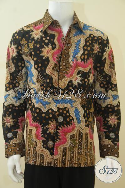Baju Batik Elegan Mewah Dan Modern Buatan Solo, Kemeja Batik Kerja Manager Dan Executive Muda, Proses Tulis Tampil Makin Menawan, Size L