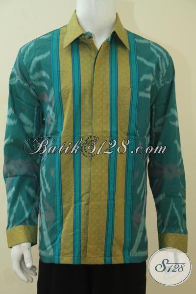 Baju Tenun Jawa Tengah Kwalitas Halus Asli Buatan Pengerajin Kampung, Baju Kerja Berkelas Dengan Full Furing Tampil Lebih Berwibawa, Size XL
