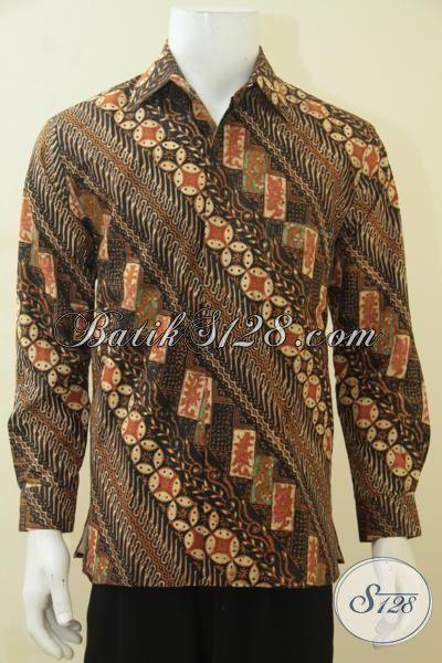 Baju Batik Barang Desain Terkini, Busana Formal Nan Elegan Dengan Daleman Menambah Kesan Mewah Dan Berkelas, Cocok Untuk Rapat, Size M