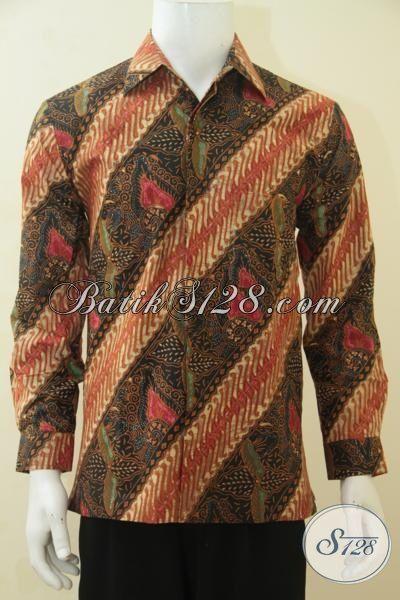 Hem Batik Keren Dan Berkelas Motif Klasik, Baju Batik Daleman Full Furing Model Lengan Panjang Untuk Acar Resmi, Size M