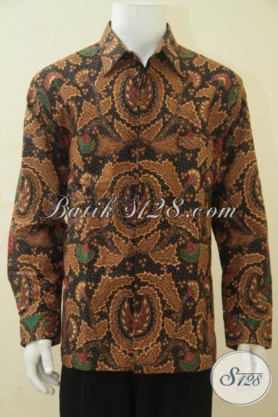 Jual Hem Batik Lengan Panjang Motif Klasik Proses Kombinasi Tulis, Pakaian Batik Halus Untuk Pria Dewasa, Cocok Buat Kondangan [LP4462BTF-L]