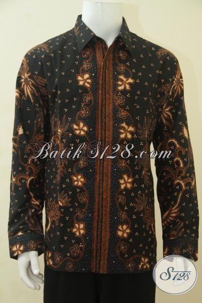 Baju Kerja Bahan Batik Tulis Halus Pakai Tangan, Kemeja Batik Full Furing Elegan Kwalitas Mewah Tampil Makin Gagah, Size XL