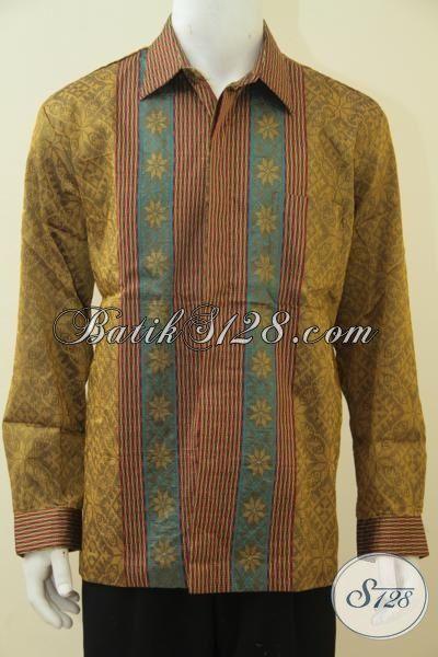 Baju Tenun Mewah Lengan Panjang Full Furing, Pakaian Formal Istimewa Kwalitas Halus Cocok Buat Rapat Dan Pesta, Size XL
