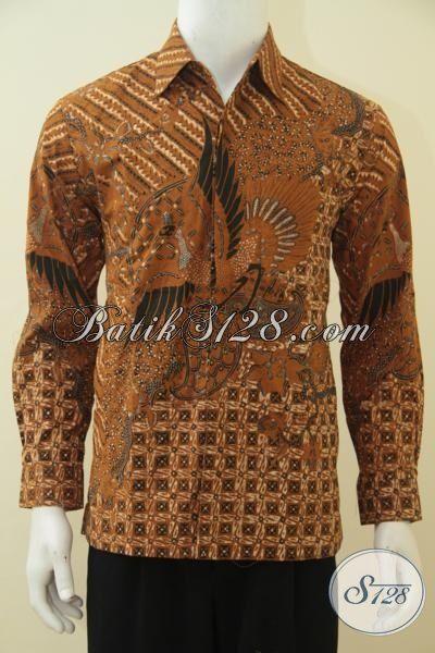 Hem Batik Klasik Untuk Acara Formal, Pakaian Batik Premium Kombinasi Tulis Full Furing Pria Tampil Elegan [LP4542BTF-M]