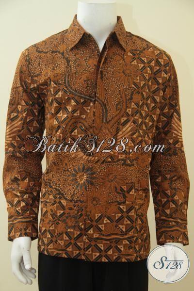 Hem Batik Kombinasi Tulis Size L, Kemeja Batik Premium Daleman Full Furing Motif Klasik Pria Dewasa Tampil Lebih Berwibawa