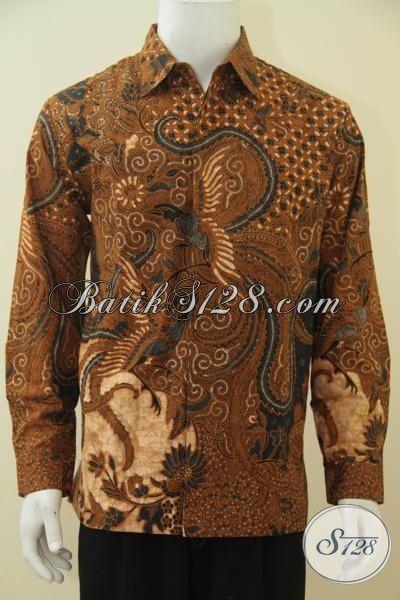 Hem Batik Klasik Buatan Solo, Baju Seragam Kerja Pria Muda Dan Dewasa, Busana Batik Lengan Panjang Full Furing Lebih Mewah Dan Berkelas, Size L
