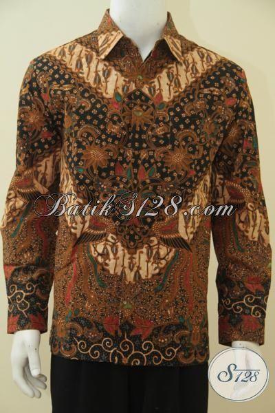 Online Shop Pakaian Batik Khas Solo, Jual Kemeja Batik Premium Kombinasi Tulis, Baju Kerja Full Furing Lengan Panjang Motif Bagus, Size L