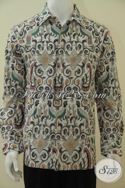 Batik Hem Terbaru Buatan Solo, Baju Batik Lengan Panjang Modis Keren Kwalitas Halus Proses Cap Tulis, Batik Cowok Bikin Penampilan Semakin Tampan, Size L