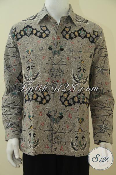 Produk Busana Batik Pria Terbaru Motif Wahyu Tumurun, Kemeja Batik Lengan Panjang Elegan Modis Dan Mewah Pas Untuk Acara Formal, Proses Kombinasi Tulis [LP4569BT-L]