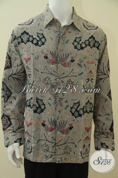 Produk Baju Batik Ukuran XXL Exclusive Pria Badan Gemuk, Baju Batik Cap Tulis Motif Wahyu Tumurun Cocok Untuk Santai Dan Formal [LP4578CT-XXL]