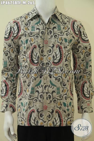 Hem Batik Lengan Panjang Full Furing Motif Klasik, Baju Batik Elegan Size M Proses Kombinasi Tulis Cocok Untuk Pria Muda Dan Dewasa [LP4675BTF-M]