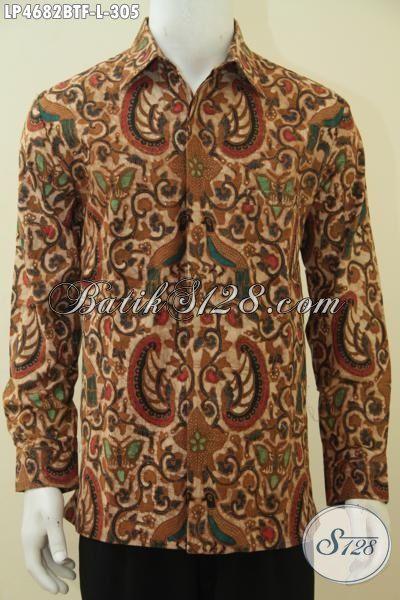 Sedia Pakaian Batik Klasik Lengan Panjang, Baju Batik Kombinasi Tulis Daleman Full Furing Untuk Tampil Mewah Dan Berwibawa [LP4682BTF-L]