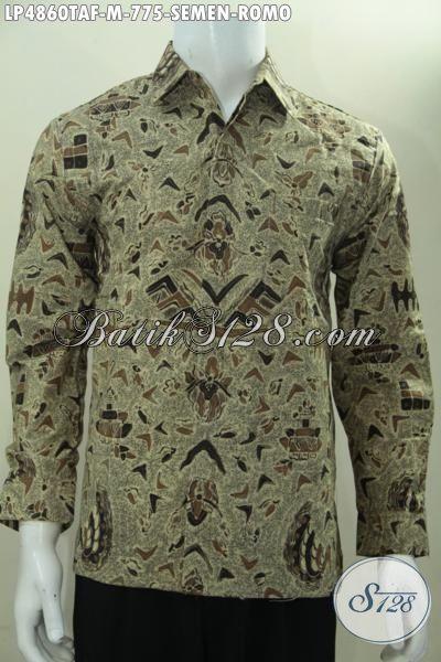 Produk Pakaian Batik Istimewa Buatan Solo Motif Klasik Semen Romo, Baju Batik Mewah Tulis Tangan Lengan Panjang Daleman Full Furing, Tampil Makin Berwibawa Size M