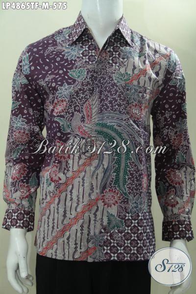 Batik Hem Modis Lengan Panjang Full Furing, Produk Baju Batik Tulis Berkelas Premium Untuk Penampilan Lebih Mewah, Size M